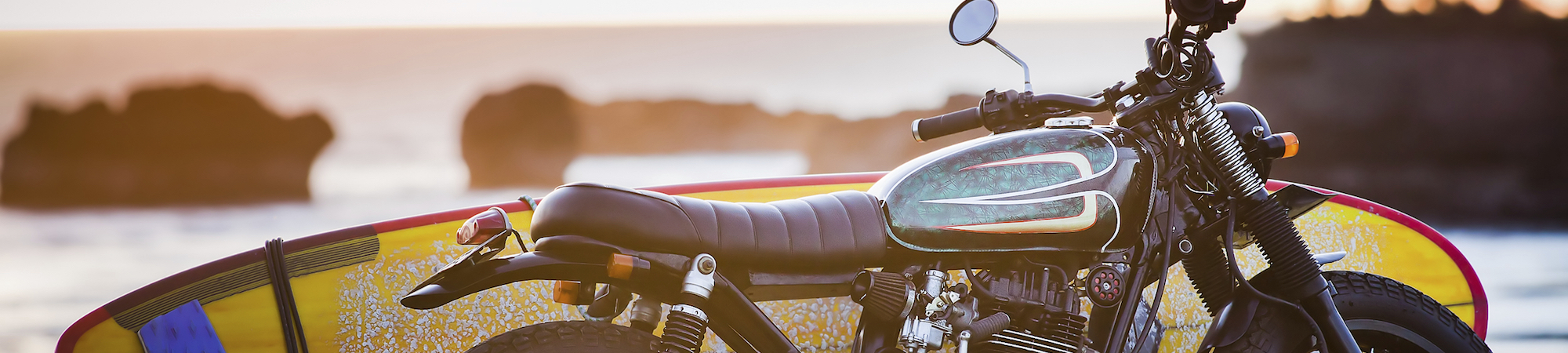 MWT motorcycle and surfboard