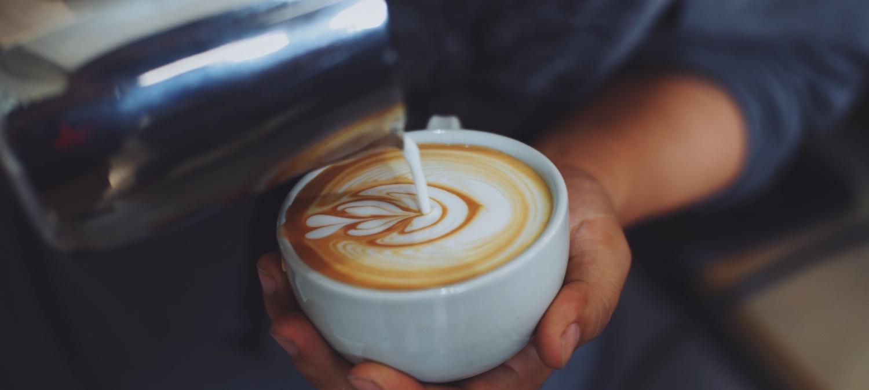 coffee in coffee shop vintage color